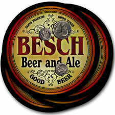 Besch Beer and Ale Coasters - 4pak - Great Gift
