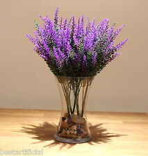 Best Artificial 36cm Purple Lavender Heather Spray Stems wedding floral flower