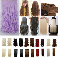 cheap All Colors 1pcs 5clip straight/wavy/curly Half Head Clip In Hair Extension