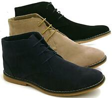 BLACK NAVY TAUPE SUEDE NEW MENS LACE UP DESERT BOOTS SHOES