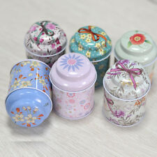 6 Pastoralism Styles Tea Storage Box Tin Candy Coin Case Christmas Metal