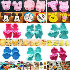 Sugarcraft Cookie Biscuit Cutter Mold Plunger DIY Baking tools Icing Decorating