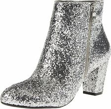 Women's BCBGeneration Charm Silver Party Glitter Ankle Boot