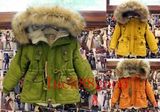 children's clothing faux fur collar coat thick lamb girls and boys jacket coats