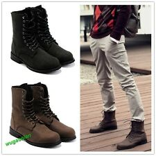 New Men's Retro Winter England-Style Fashionable Combat Boots short shoes