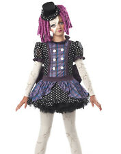 Gothic Creepy Scary Broken Porcelain Doll Cosplay Child Hallowen Costume Girls