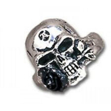 Demi Alchemist Skull Ring Pewter Alchemy Gothic Jewelry Punk Rock Biker R16