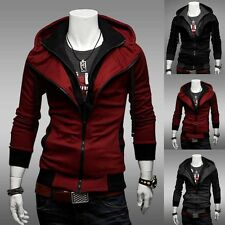 NEW Stylish Mens Long Sleeve Sweater Jacket Hoodies Men Slim Hooded Coat Jacket
