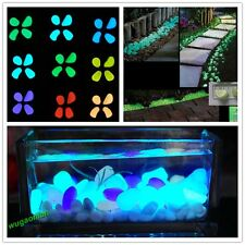 Hot 100pcs Glow in the Dark Pebbles Stones Garden Walkway Aquarium Fish Tank Hot