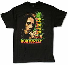 "BOB MARLEY ""KAYA"" BLACK T-SHIRT NEW OFFICIAL WEED REGGAE ADULT"