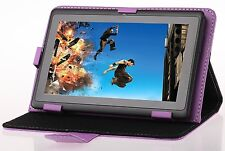 Purple Multi-angle Stand PU Leather Case for 7 inch Tablets - Acer Iconia B1-A71