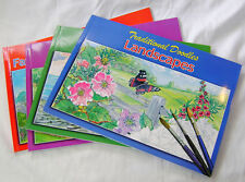 NEW TRADITIONAL DOODLES ADULT COLOUR & COPY BOOK COLOURING IN SCENES TRANSPORT