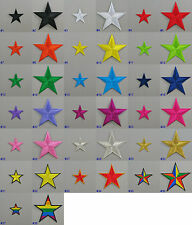 Star Iron On/ Sew On Embroidered Cloth Patch Badge Symbol Motif Appliqué Hot Fix
