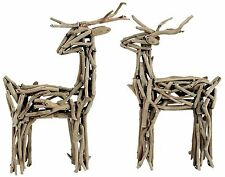 "Natural Wood Driftwood Deer Figure Christmas Holiday Yard Decor 18"" NEW Choose 1"