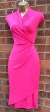 50'S VTG STYLE PINK RUCHED MARILYN STYLE PENCIL WIGGLE DRESS 8 - 20