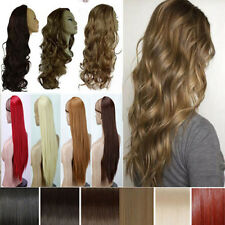 80cm clip in hair wigs clip on synthetic 3/4 full head wig USA Best Selling HG76