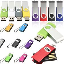 32GB 32G Metal Roating USB 2.0 Flash Memory Drive Stick Pen Storage Thumb U Disk