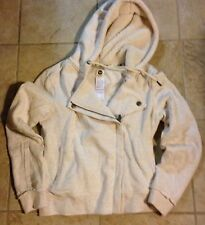 Roxy Womens Heavy-weight  Heather Cotton-Blend Zip Hoodie New w/ Tags $54.50