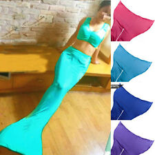 Women Girls Swimmable Mermaid Tail tails Swimsuit-Med Sea-Affordable (No Monofin