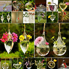 New Hot Wedding Home Decor Glass Flower Plant Hydroponic Container Hanging Vase
