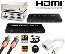 highSpeed hdmi kabel 1.4b 3D 4K ETHERNET PC 1,5m 3m 5m 10m 15m / Splitter / vga