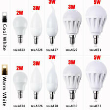 5 Styles E14 2W/3W/5W Energy Saving LED Candle Bulbs Ball Lamp Light Bulb
