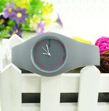 Hot Sale Candy Color Women Jelly Wrist Watch Girl Unisex Wrist Watch Round Dial