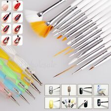 20pcs Nail Art Care Design Set Dotting Painting Drawing Polish Brush Pen Tools