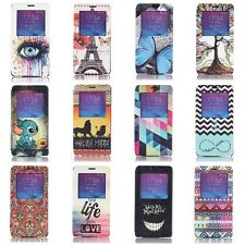 New Window View Leather Flip Stand Cover Case For Samsung Galaxy Note 4 IV N9100
