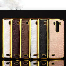 Slim Flexible PU Leather Skin Protector Back Phone Cover Case For LG G3 New