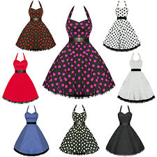 Hearts And Roses London Polka Dot 50S Rockabilly Pinup Party Swing Prom Dress