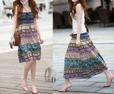 BOHO Cotton 2 in 1 Convertible Tube Beach Dress Maxi Skirt AU SELLER dr105
