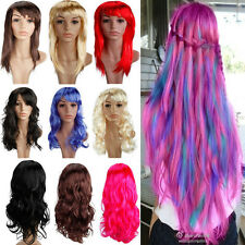 2014 Newly Design Long Curly Wavy Wig Ladies Cosplay Costume Party Womens hg098