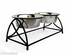 Butterfly Pet Diner Elevated 2-Bowl Raised Dog Feeder