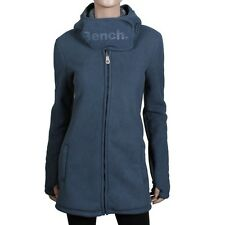 BENCH Conic Fleece Zip Mantel MEGA WARME Damen Jacke Plüsch Futter midnight navy