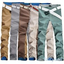 Mens Male 5 Colors Skinny Pencil Straight Long Pants Casual Pocket Slim Trousers