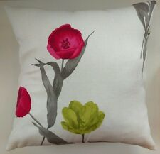 """Cushion Cover in Next Delicate Tulip Stem Matches Curtains 14"""" 16"""" 18"""" 20"""""""