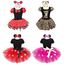 Girls Kid Toddler Cosplay Party Costume Tutu Skirt Headband Christmas Xmas Dress