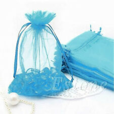 10/50/100 Organza Jewelry Gift Candy Beads Pouch Bag Wedding Xmas Favor