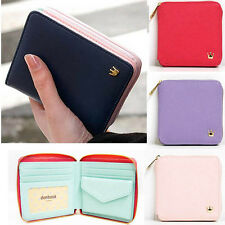 New Fashion Short Girl Women PU Leather Wallet Mini Purse Coin Card Holders Bags