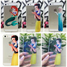 New Cute Princess Cartoon Patterned Matte Clear Transparent Hard Case Back Cover