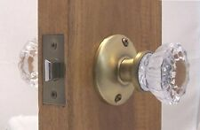 Very Affordable Fluted Door Knobs~Crystal & Antique Brass~Passage or French Sets