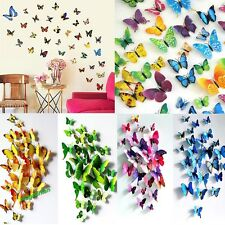 Hot Sale 12pcs 3D Butterfly Art Decal Home Decor PVC Butterflies Wall Stickers