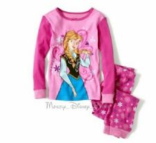 NEW Disney Girls Frozen Anna Pink Long Sleeve Pajamas Two Piece Set Pants PJ's
