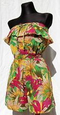 BNWT ATMOSPHERE PRIMARK TROPICAL PRINT COTTON PLAYSUIT SIZE UK 8 EUR 36 or 10 38