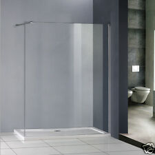 Walk In Shower Panel 8mm Toughened Easyclean Glass Screen Enclosure Wet Room W38