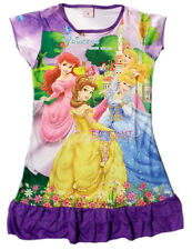 Disney Cinderella Aurora Snow White Children Girls Pajama Night Gown 3-10 Purple