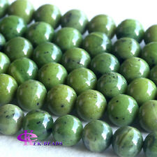 Wholesale Natural Canada Green Jade Round Loose Beads 12mm