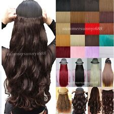UK Fashion Clip in hair extensions half full head Curly Wavy Straight hair piece