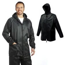 MENS REGATTA STORMBREAK WATERPROOF COAT / RAIN JACKET BLACK NAVY